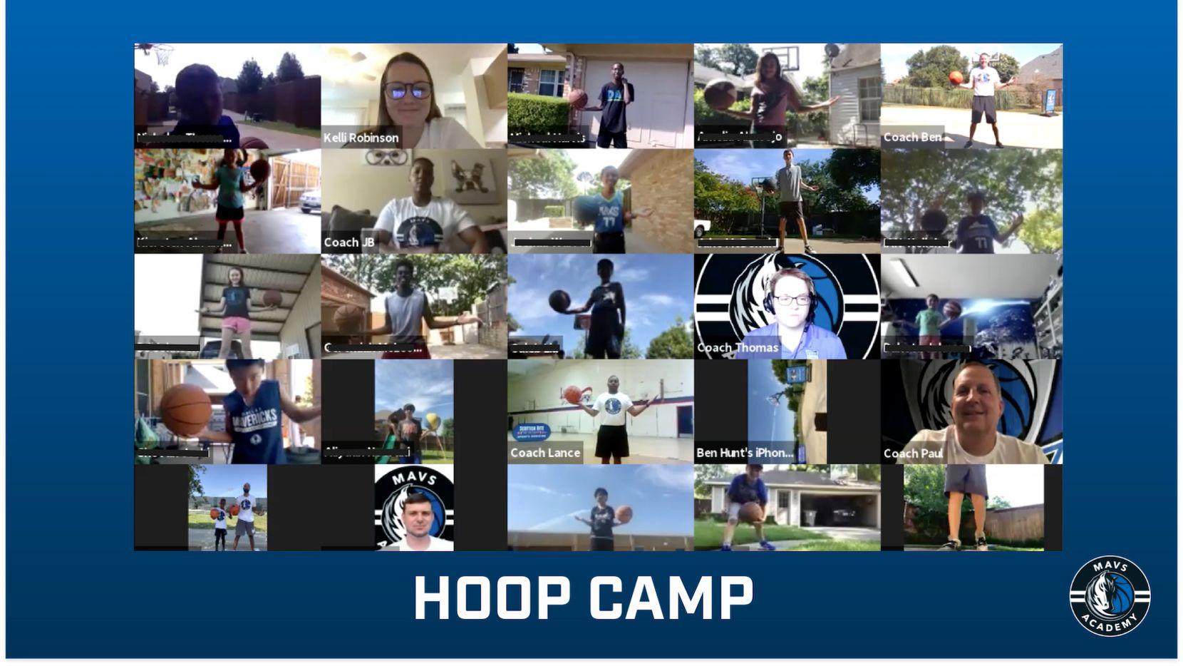 The Dallas Mavericks hosted Hoop Camp virtually to teach kids fundamentals.