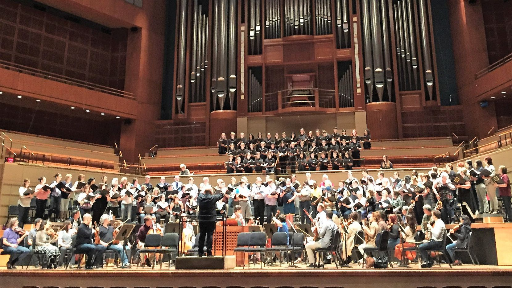 Jaap van Zweden rehearsed recently with the Dallas Symphony Orchestra, Dallas Symphony Chorus and Children's Chorus of Greater Dallas on The Passion According to St. Matthew, The Passion According to St. John at Meyerson Symphony Center in Dallas.