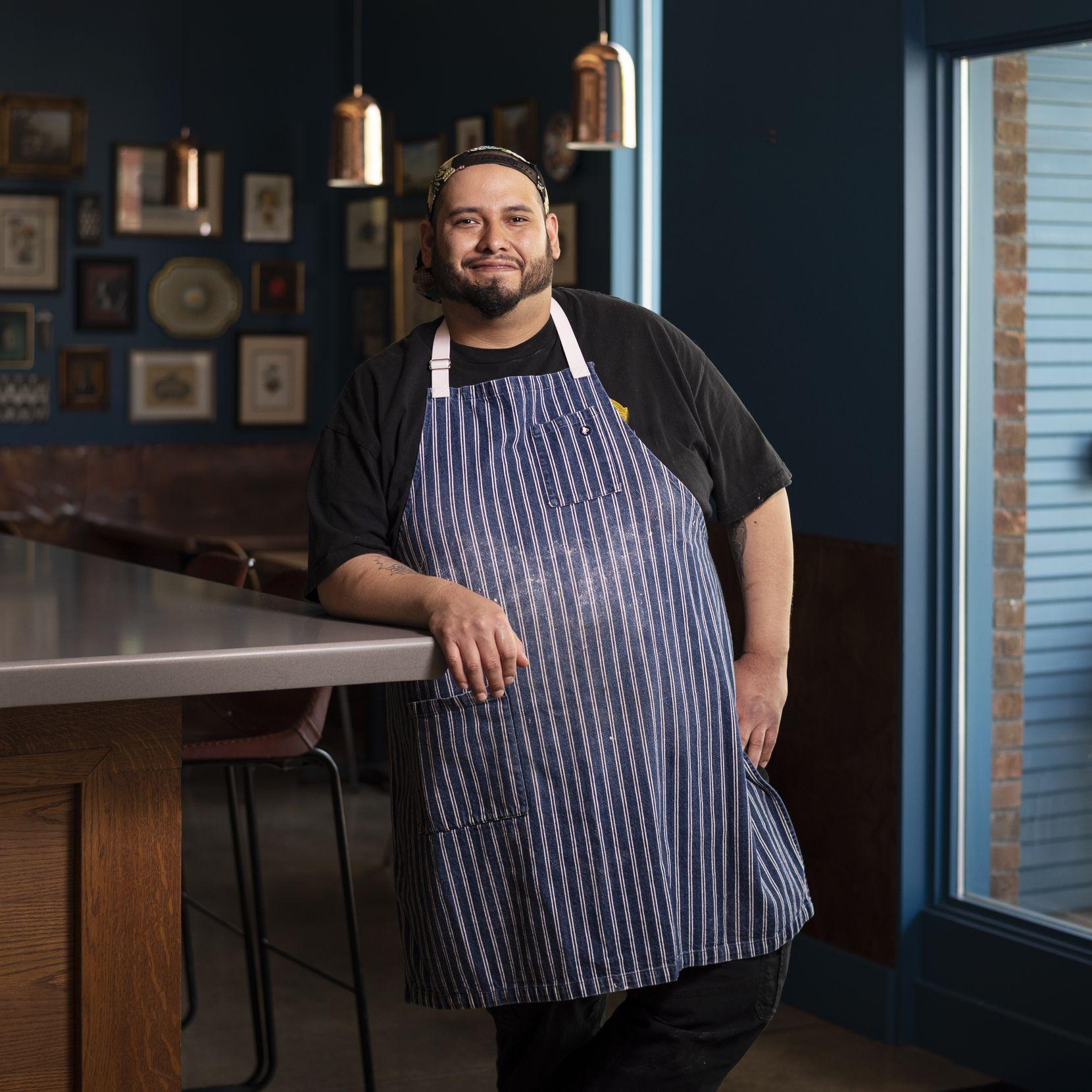 Bread baker Matt Ramirez of Lucia restaurant in Dallas
