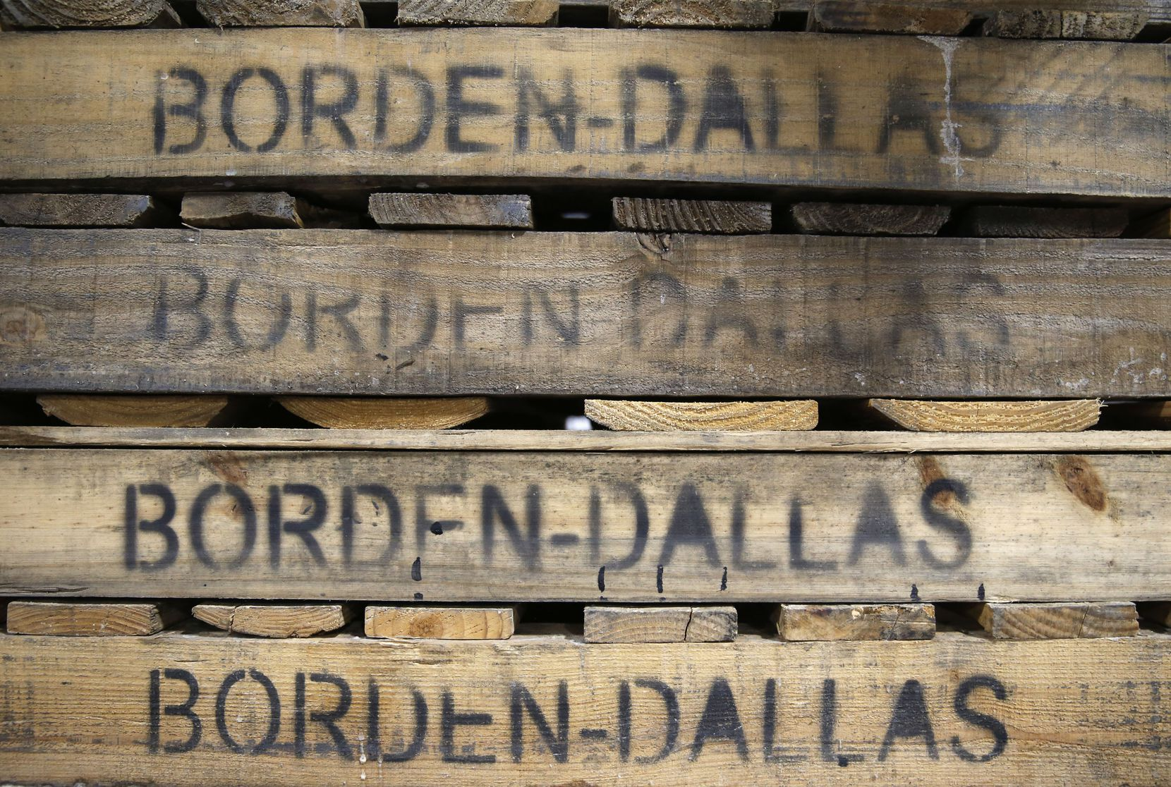 Pallets at Borden Dairy Co. in Dallas.