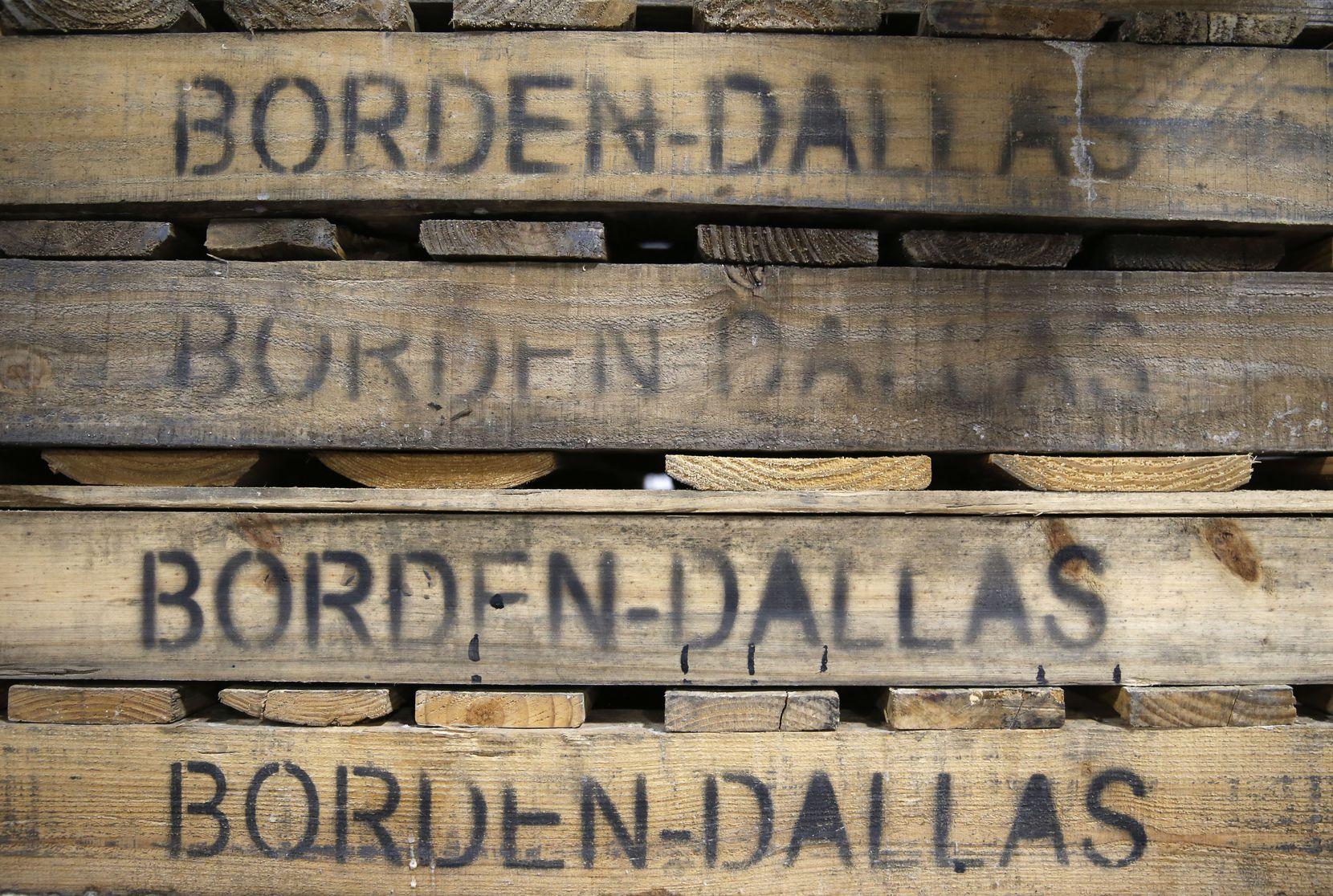 Pallets at Borden Dairy Co. in Dallas.