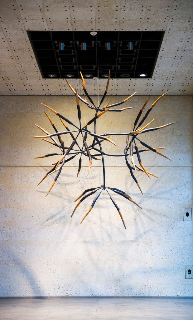 James Surls Seven and Seven Flower in the front lobby of the Amon Carter Museum of American Art