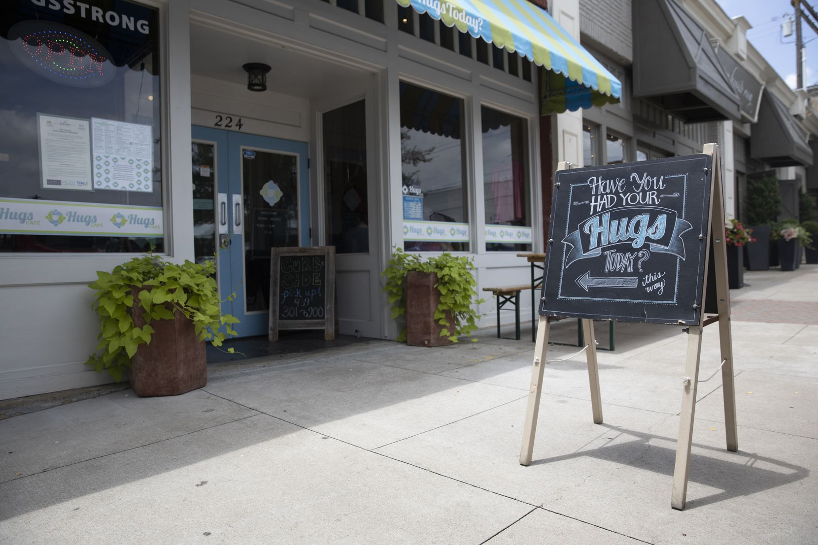 Hugs Café is a popular lunch spot just off the historic square in McKinney.