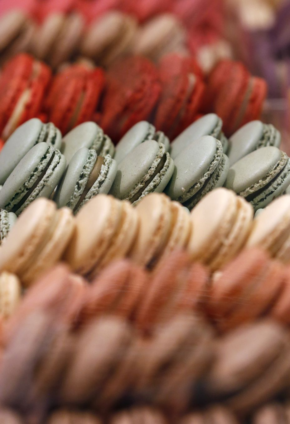 Macarons are displayed at the first Woops! in North Texas.