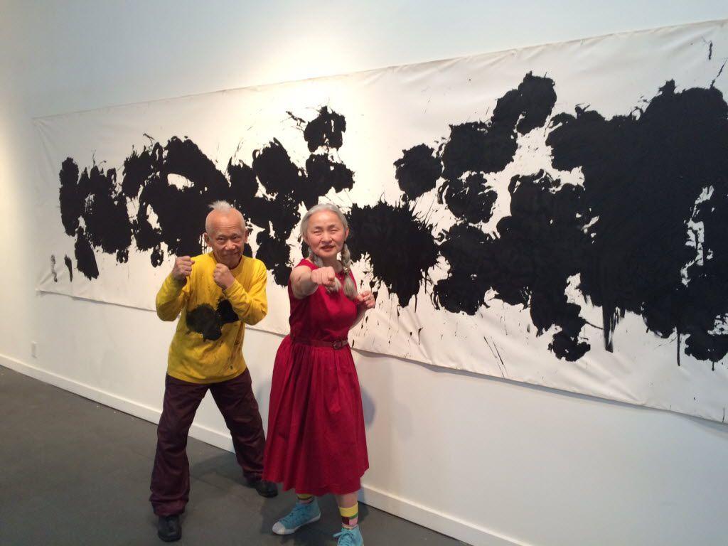 Artists Ushio (left) and Noriko Shinohara had an exhibition at Kirk Hopper Fine Art a couple years ago. (File photo)