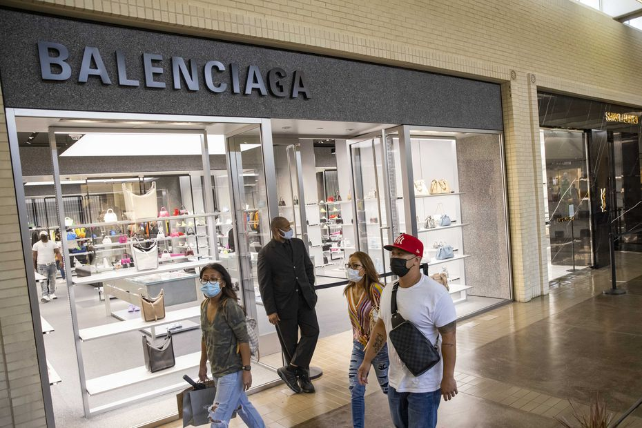 The Balenciaga store at NorthPark Center is shown in May.