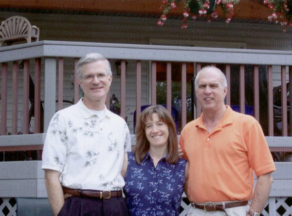 Weeks after Frank (left) met Terry and Crys in Colorado in July 2005, a DNA test confirmed they share the same parents.