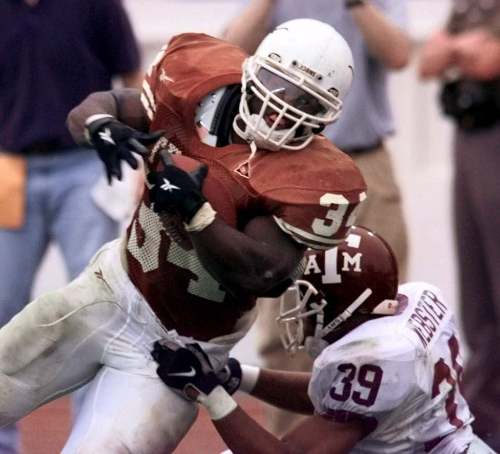 Texas 26, Texas A&M 24 (Nov. 27 1998 in College Station, Texas) Ricky Williams broke off a 60-yard TD run near the end of the first quarter to break the NCAA career rushing record and Kris Stockton hit a 24-yard field goal with five seconds left in the game as Texas upset No. 6 Texas A&M in Mack Brown's first year as head coach. Williams ended with 259 yards on 44 carries as he eventually went on to win the Heisman Trophy. Texas led 23 to 7 midway through the fourth quarter before the Aggies ripped off 17 points in six minutes to take a one point lead.