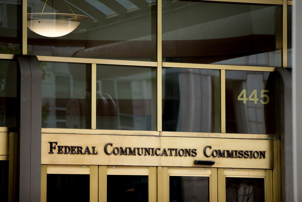 This June 19, 2015, file photo, shows the Federal Communications Commission building in Washington.