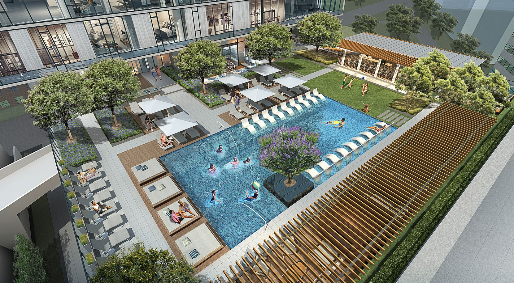 The Victor will have a pool and outdoor lounge area for tenants on the ninth floor.