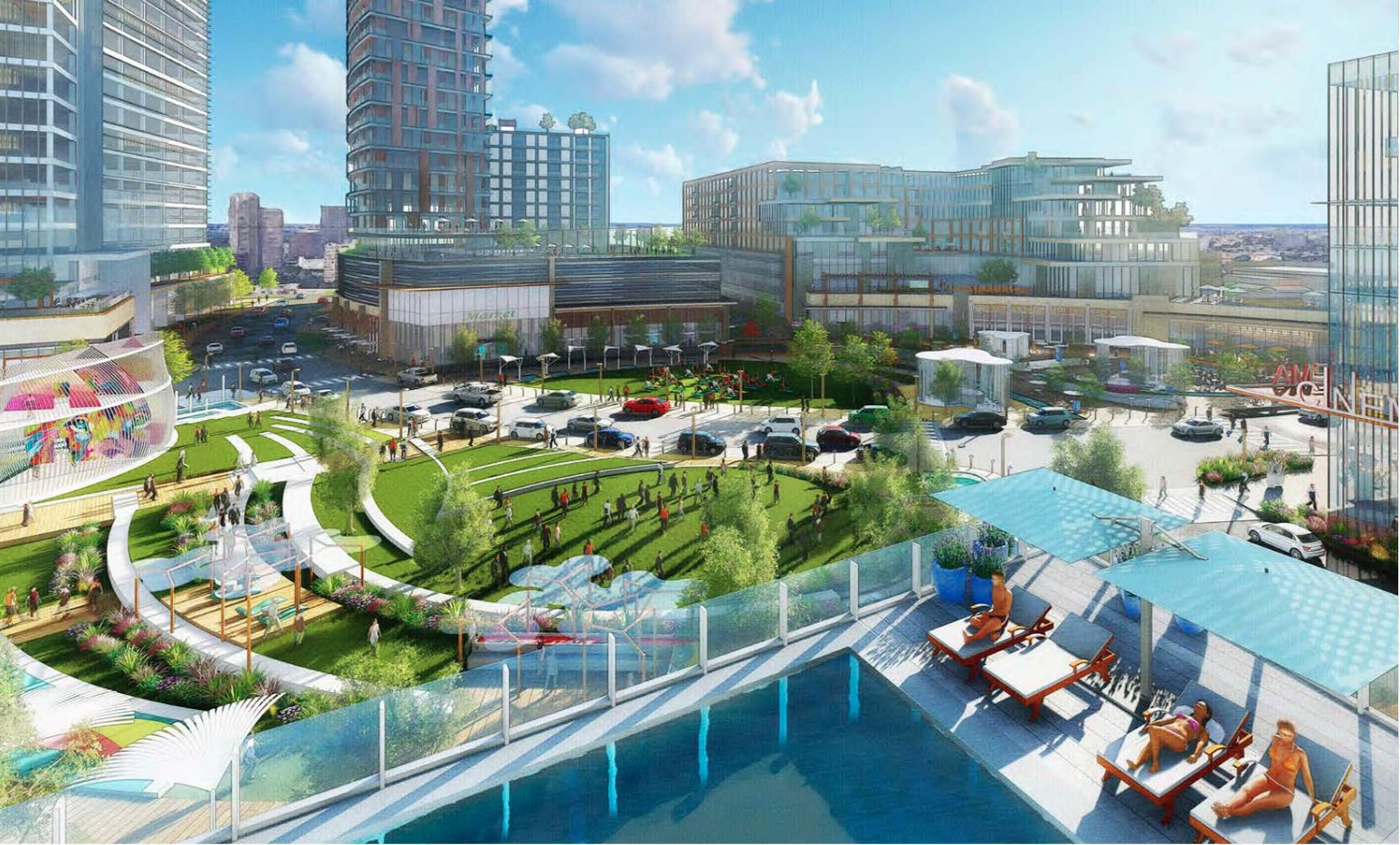 The mixed-use project is planned to include apartments and a luxury hotel.
