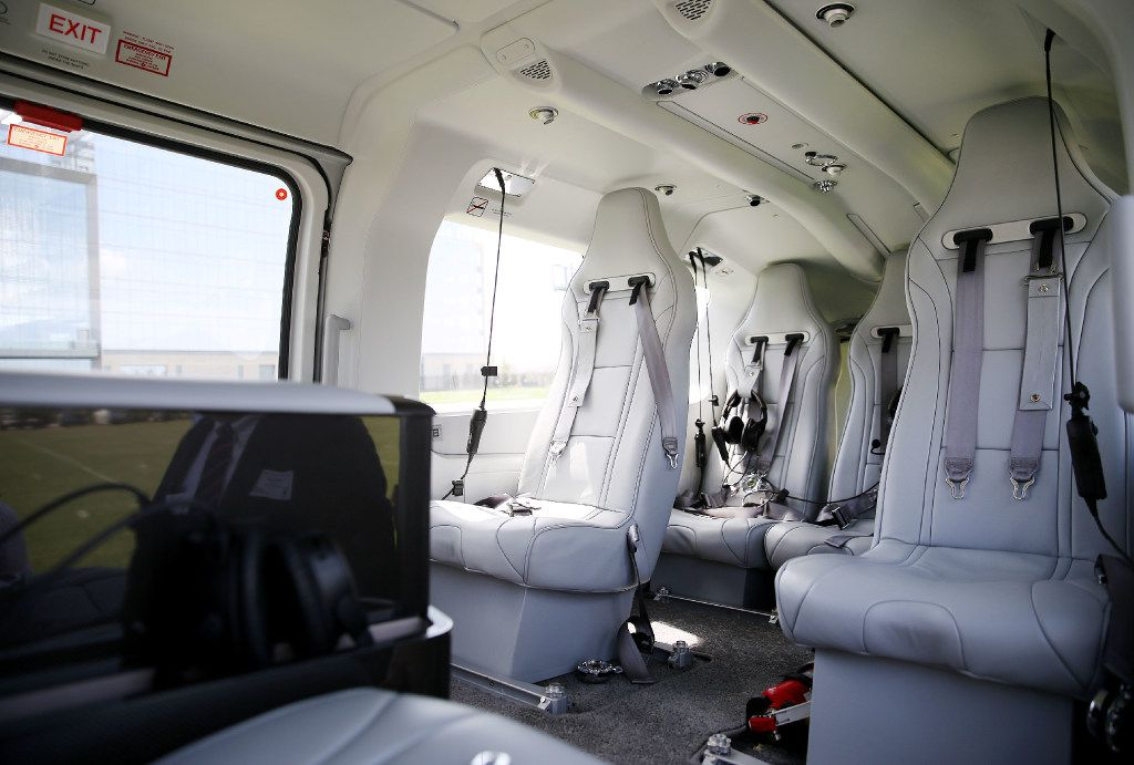 Jerry Jones' new helicopter can sit up to 10 people, depending on how the seats are configured.