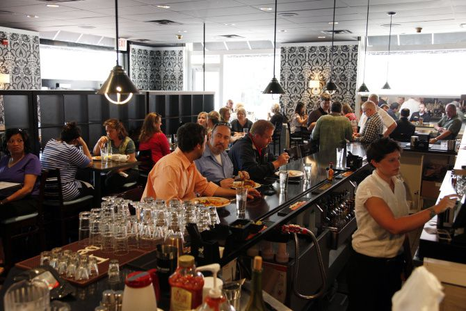 Patrons dine at Ellen's Southern Kitchen in Dallas' Historic West End.