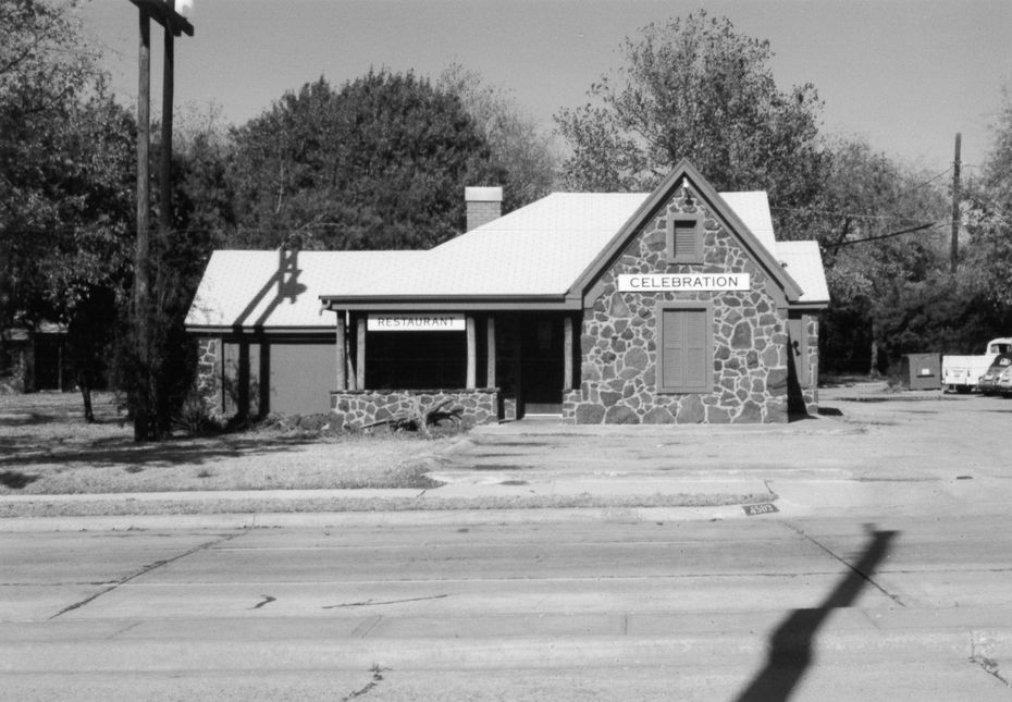 The original Celebration restaurant, which opened March 2, 1971, served homestyle food in a small former home on W. Lovers Lane in Dallas. The restaurant still operates at that original address, but two nearby homes have been moved and attached to the original restaurant, making it a sprawling, three-house restaurant today, at its 50th anniversary in 2021.