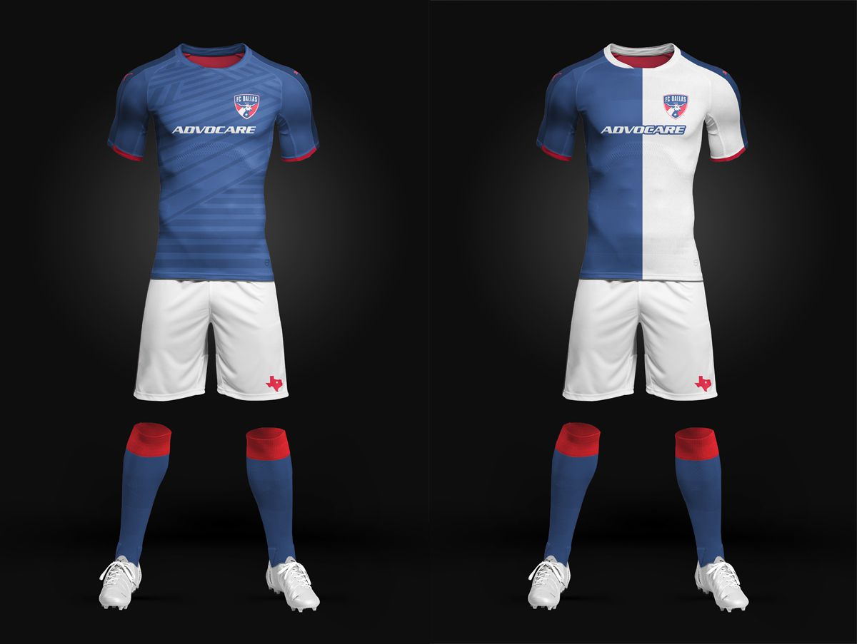 Two new FC Dallas secondary kit concepts using interesting patterns by Justin.