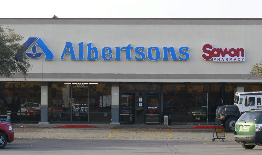 Albertsons was located across the street from Tom Thumb at the intersection of Mockingbird Lane and Abrams Road in Dallas until 2015. That's when it was sold along with 11 more local stores as part of an antitrust review of the Abertsons purchase of Safeway.  The stores were sold to Minyard Sun Fresh Market and closed in 2016. That left the Tom Thumb across the street stronger. (David Woo/The Dallas Morning News)