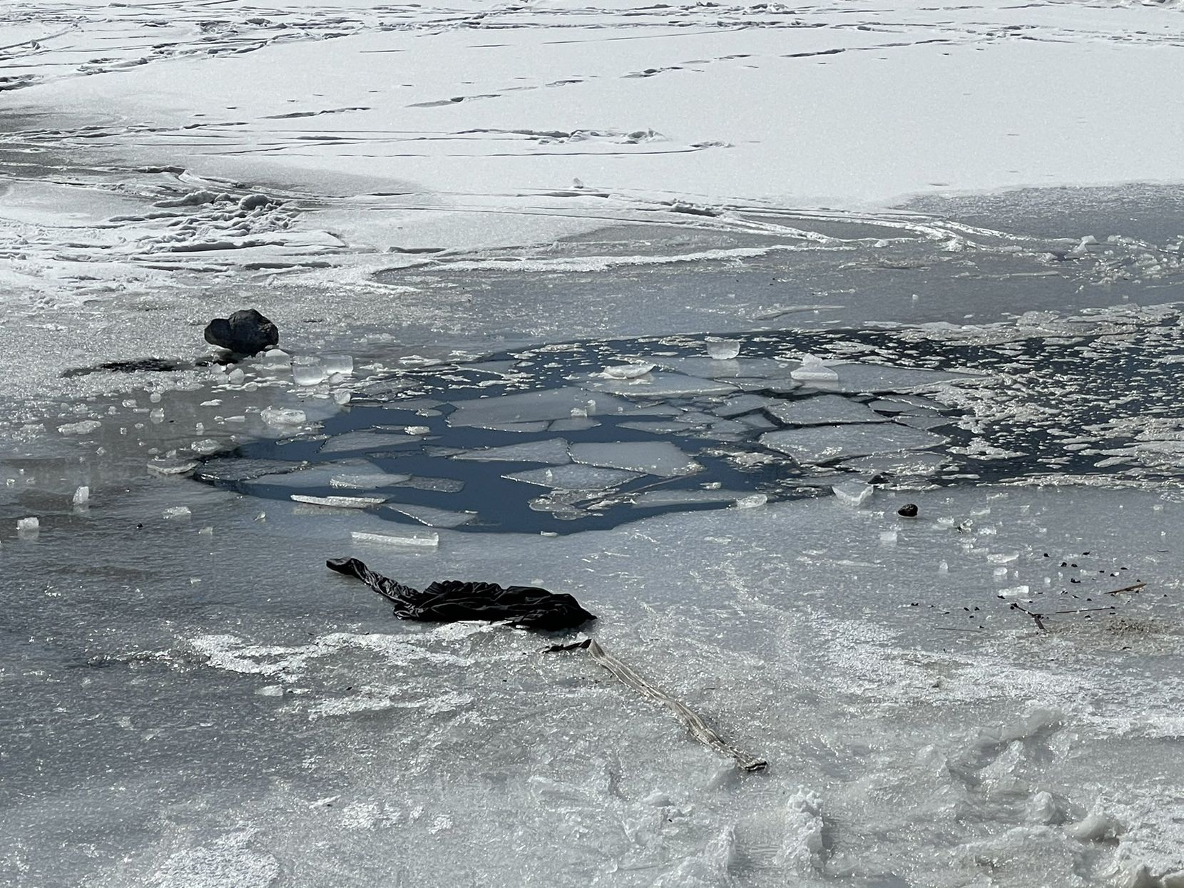 Two kids were rescued after falling into an icy pond near Lake Forest and Highland drives in McKinney on Feb. 19, 2021.