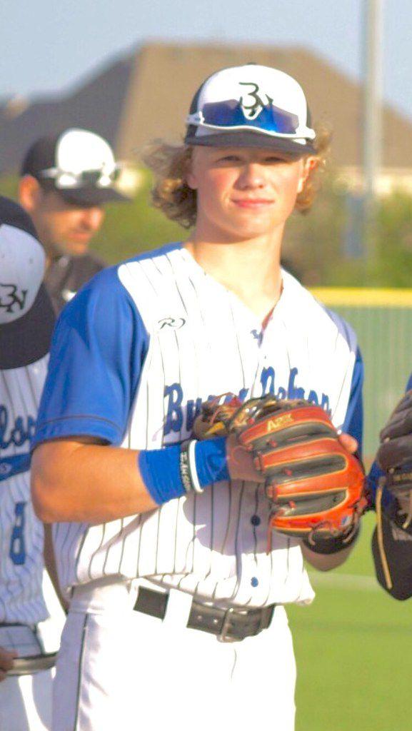 Hudson White, a 2018 Dallas Morning News all-area baseball team member from Trophy Club Byron Nelton. Mugshot. Headshot. (Courtesy)