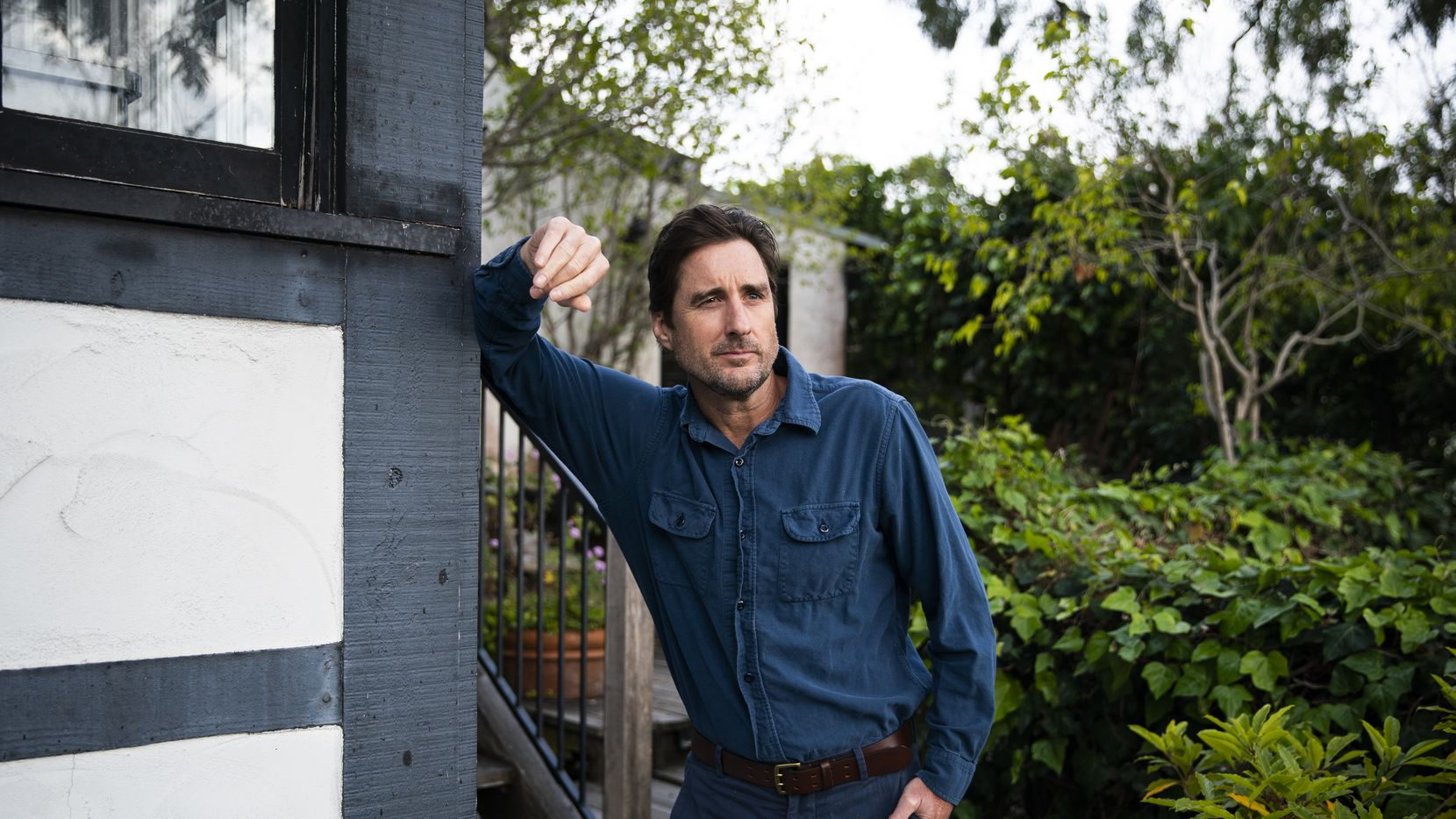 Luke Wilson poses for a portrait at his home in Santa Monica in April.