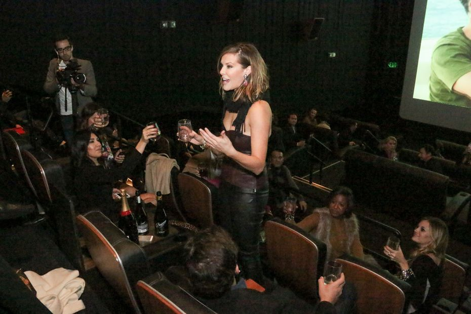 Bravo reality star Courtney Kerr hosted the premiere for her show 'Courtney Loves Dallas' at Look Cinemas in late 2013.