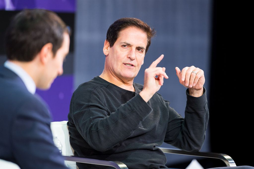 Mark Cuban, owner of the Dallas Mavericks, speaks at The New York Times DealBook Conference in New York on Nov. 9. (Mike Cohen/The New York Times)
