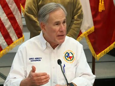 The electricity grid failures that left millions of Texans shivering and without water for nearly a week have scrambled not only the Legislature's agenda but the political calculus for next year's elections. GOP state leaders such as Gov. Greg Abbott, shown Feb. 19, have displayed anxiety over the fallout, and anger over being surprised. (screenshot)