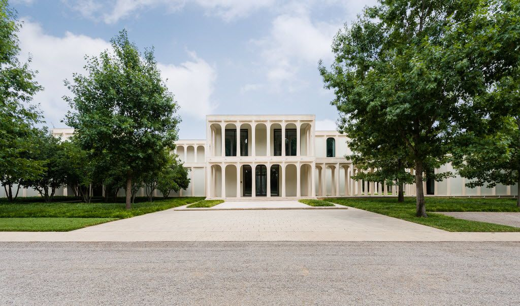 Architect Philip Johnson's only Dallas house, known as the Beck House.