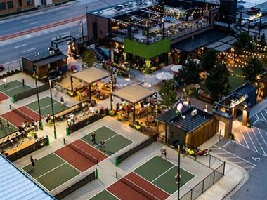Chicken N Pickle will include indoor and outdoor pickleball courts as well as a restaurant and bar.