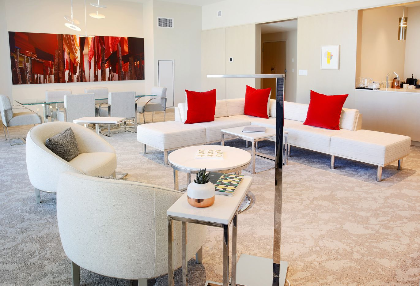 The Grand Finale Suite is pictured in the Hall Arts Hotel, Friday, February 21, 2020. The new hotel is in the Arts District of downtown Dallas.