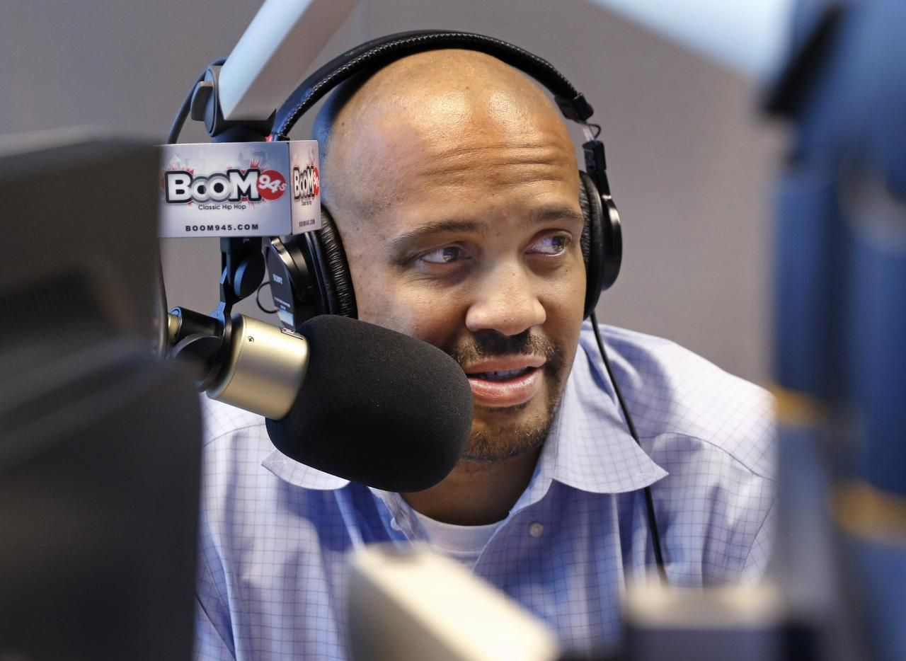 """I love being able to use a big microphone connected to a radio station that impacts a community in a positive way,"" says Mark McCray, weekday morning host on ""Boom"" 94.5."