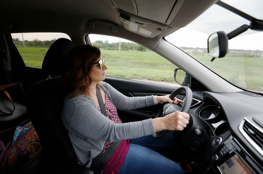 Amy Hardesty drives back to Norman, Okla., after finishing up teaching for the week at Fisher Elementary School in Frisco on Sept. 14.