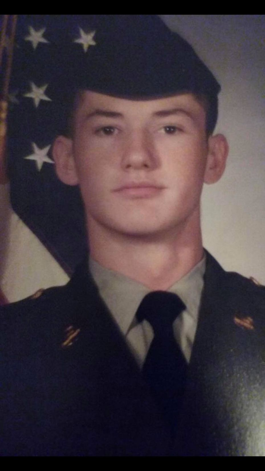 Photo of Donald Ashcraft as a young Army soldier in the mid-1980s. Ashcraft, 51, was shot and killed by Veterans Affairs officers on Jan. 8, 2020, during a confrontation outside the Dallas VA Medical Center.