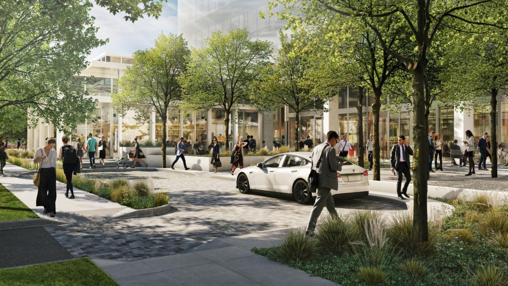 The Fairmount Street project would have a restaurant and public plaza on the first level.