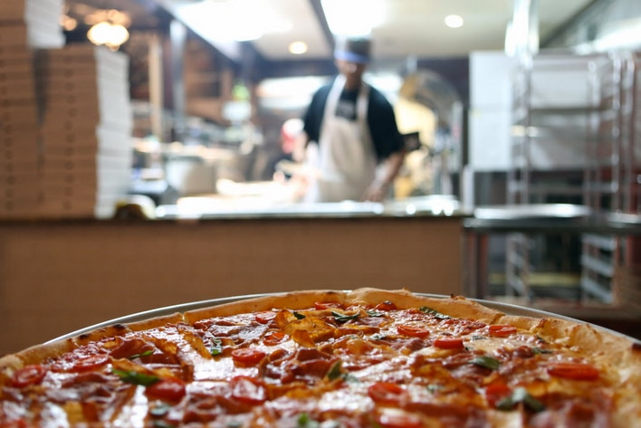Zoli's makes New York-style pizzas -- big ones -- that are sold by the slice.