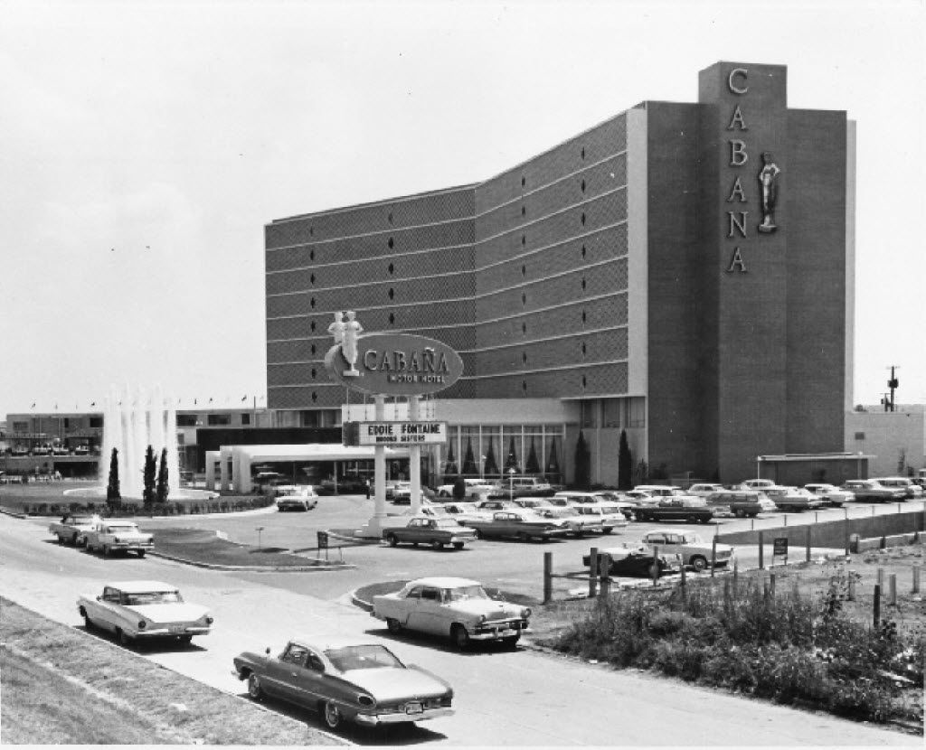 The Cabana Motor Hotel as it looked during its swinging heyday along Stemmons Freeway
