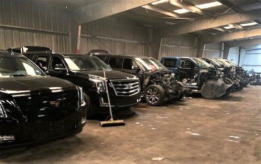 The stolen vehicles that were recovered were mostly SUVs and pickups.
