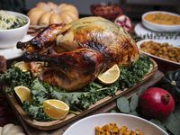 This year, Dive Coastal Cuisine is offering many Thanksgiving menu items, including an herbed and brined turkey. It's one of dozens of North Texas restaurants offering food for those who don't want to cook at home.
