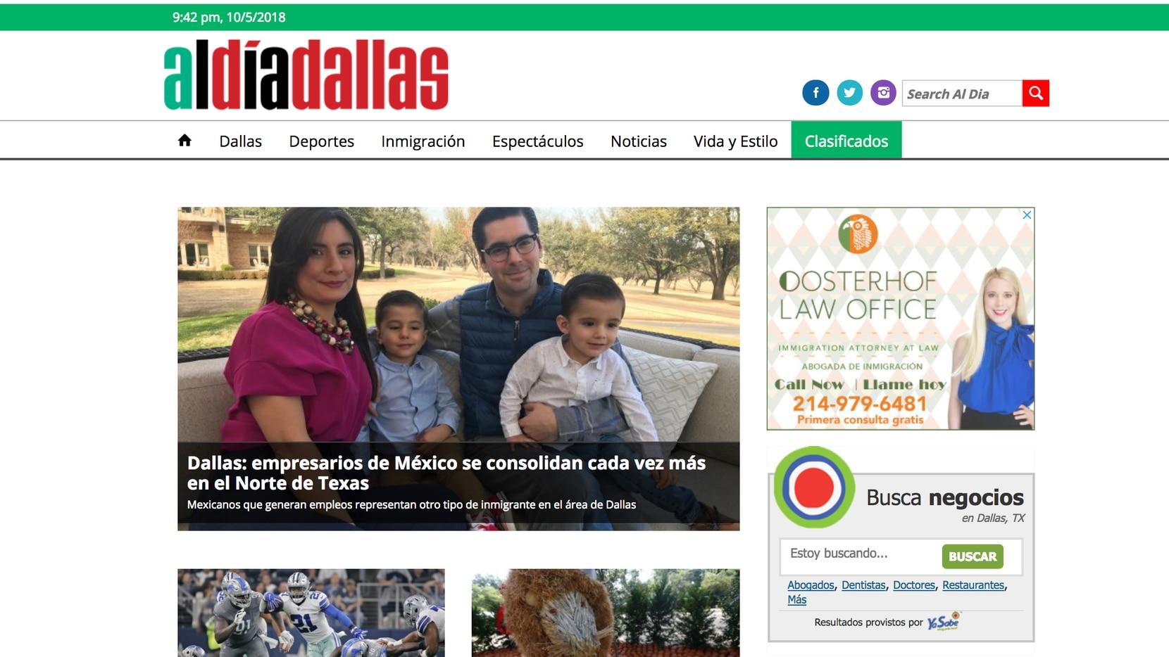 Edición digital de aldiadallas,com
