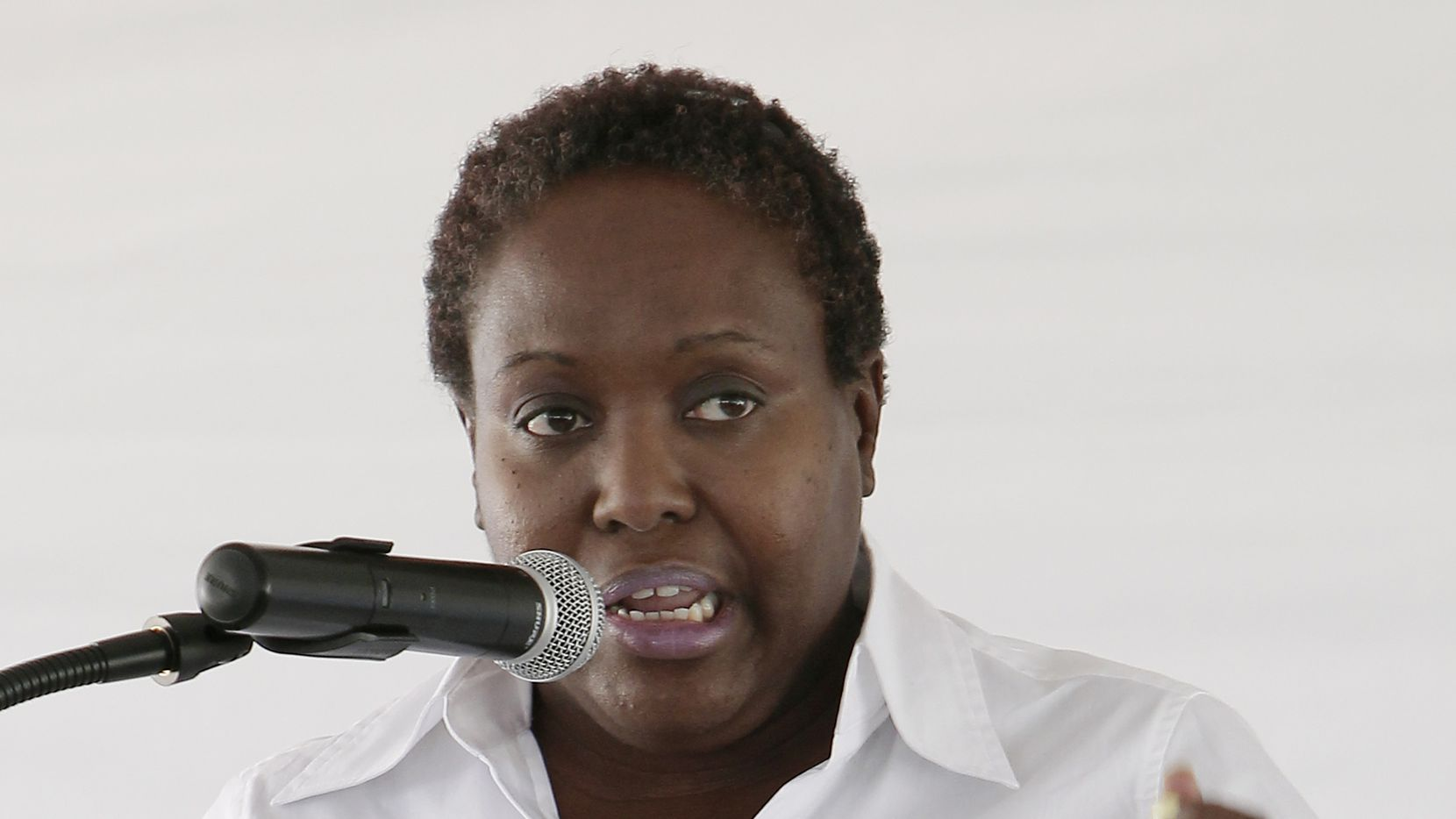 Then-Dallas City Council member Carolyn Davis  spoke during a ground-breaking ceremony for a Parkland clinic at 4003 Hatcher Street in May 2014.