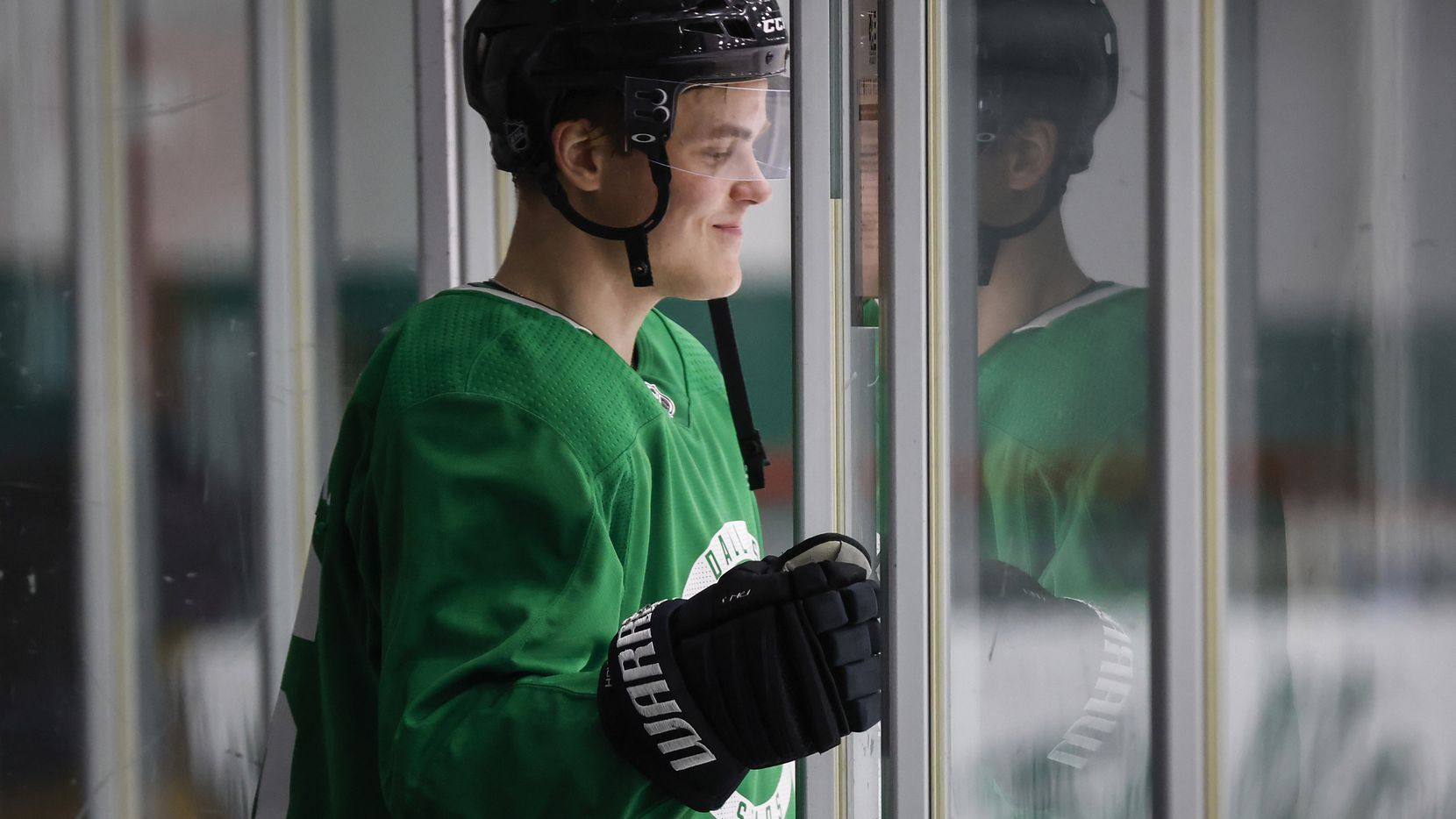 Dallas Stars defenseman Julius Honka (6) takes the ice during a training camp practice at the Comerica Center on Wednesday, Jan. 6, 2021, in Frisco.