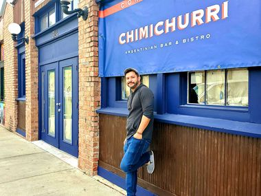 Bar manager James Slater at Chimichurri, which opened last fall in the Bishop Arts District