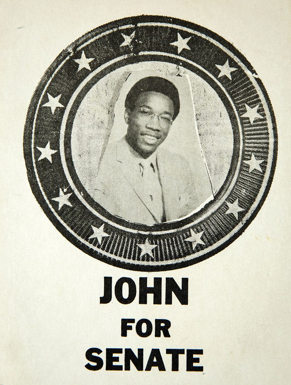 Campaign materials forJohn Wiley Price when he was running for school senate at El Centro College in Dallas.