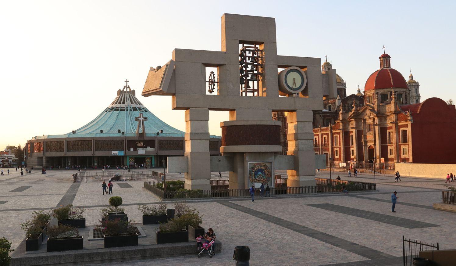 La Basílica de Guadalupe en la Ciudad de México.