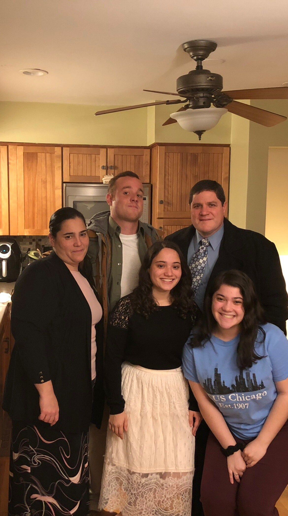 A family photo from when Edgar Tirado Jr. visited his parents' home in the Chicago suburbs.