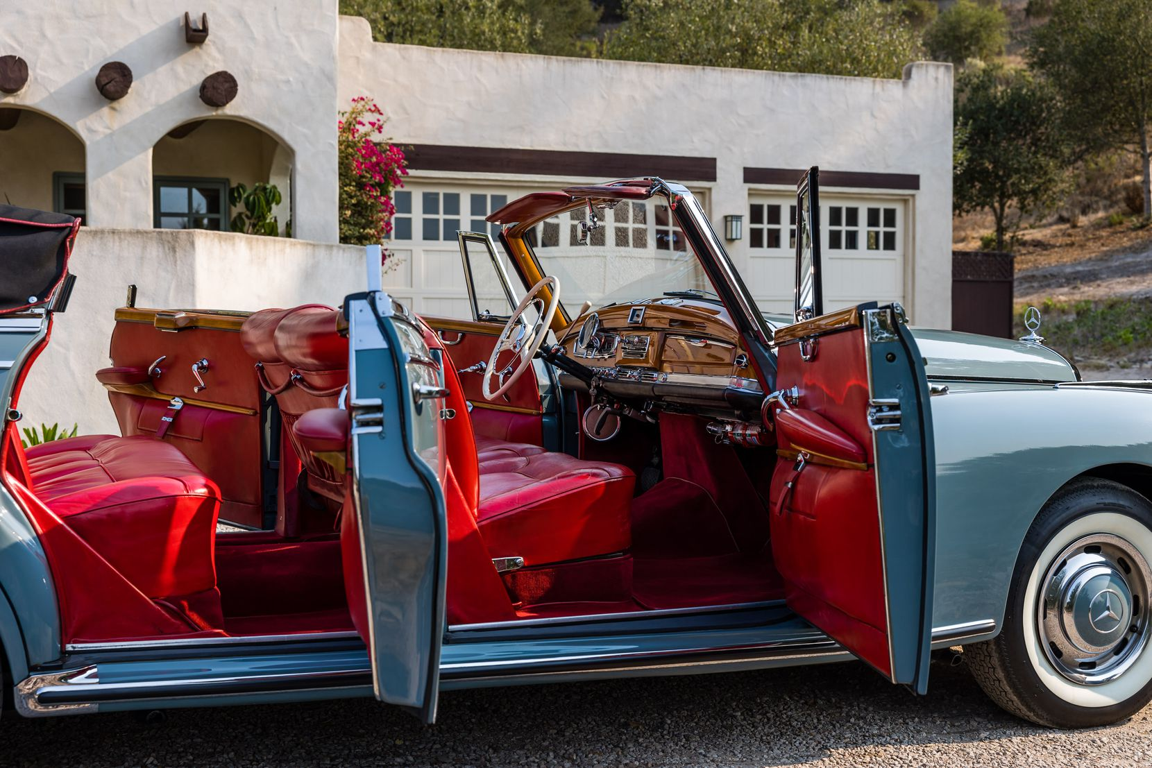 A rare 1959 Mercedes-Benz 300 D Cabriolet custom-ordered and owned by American jazz great Ella Fitzgerald is now for sale by California dealership Scott Grundfor Co.