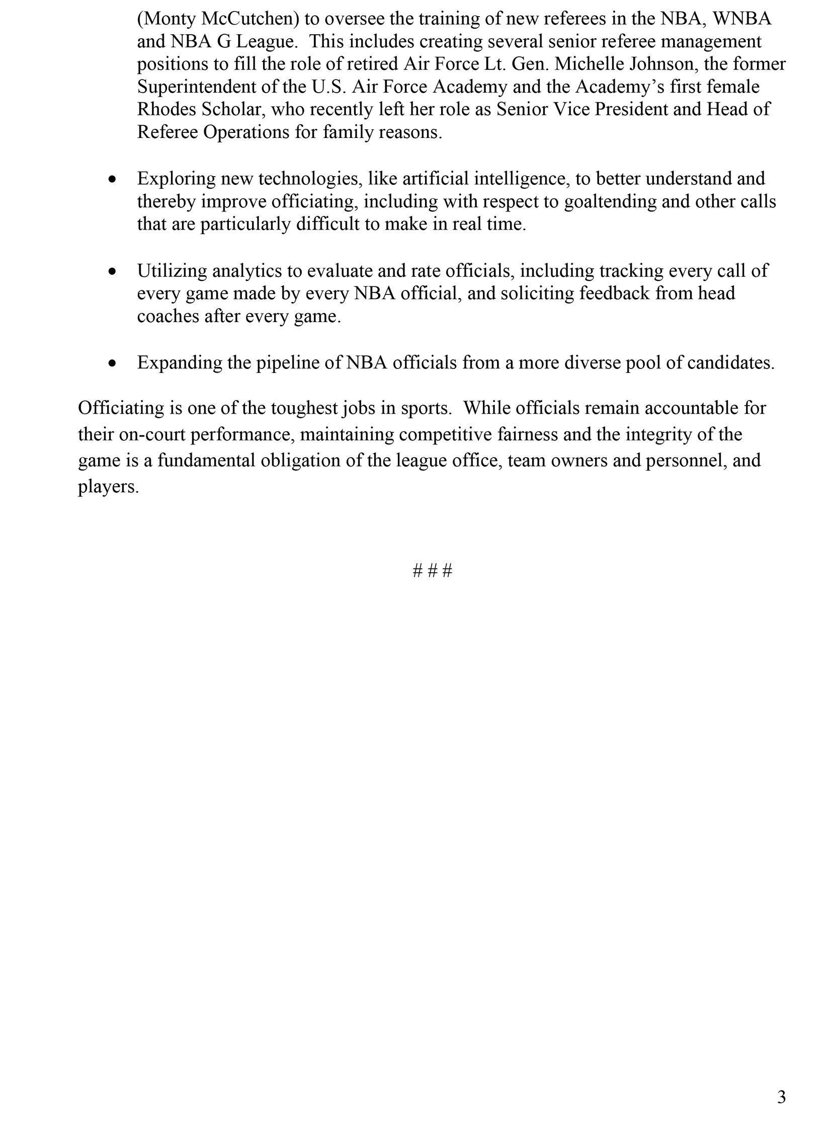 NBA statement on Mavs protest, part 3