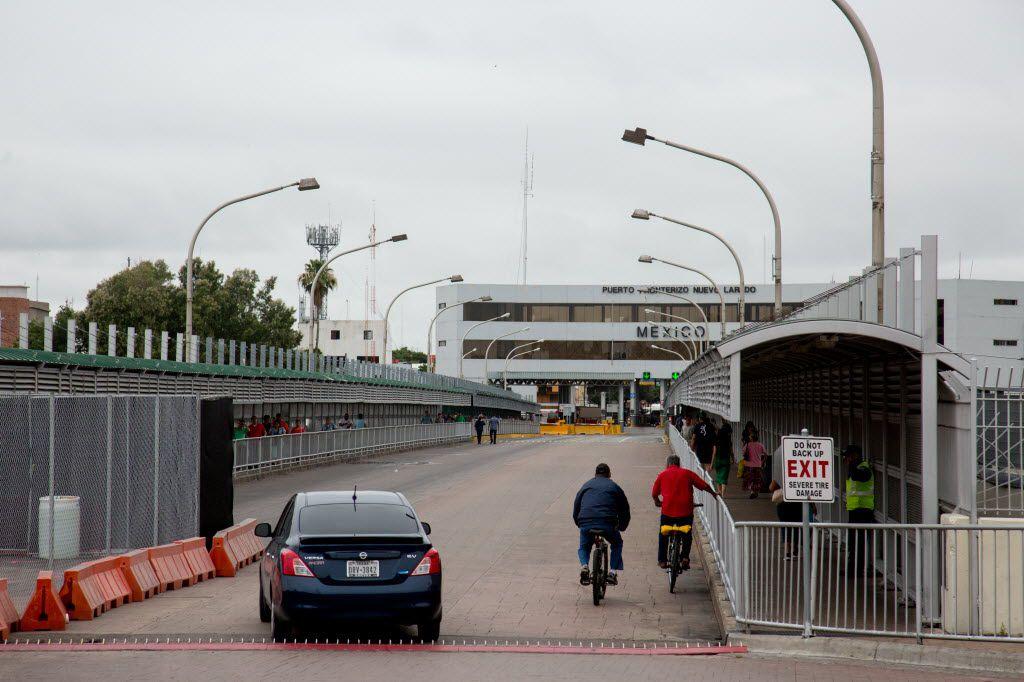 La frontera en Laredo, Texas. Decenas de personas han desaparecido luego de cruzar a Nuevo Laredo, en ruta hacia Monterrey.