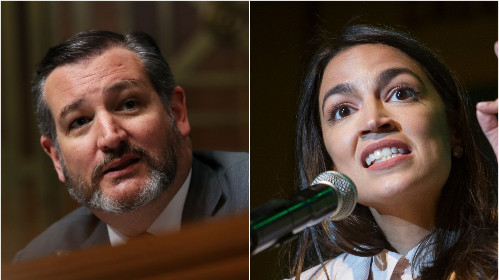 Sen. Ted Cruz and Rep. Alexandria Ocasio-Cortez