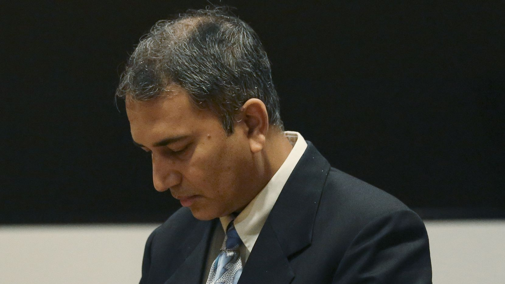 Dr. Shafeeq Sheikh awaits his sentencing at Harris County Family Law Center on Friday, Aug. 17, 2018, in Houston. The former Baylor doctor received 10 years probation for raping a patient in 2013 at Ben Taub Hospital. (Yi-Chin Lee/Houston Chronicle)