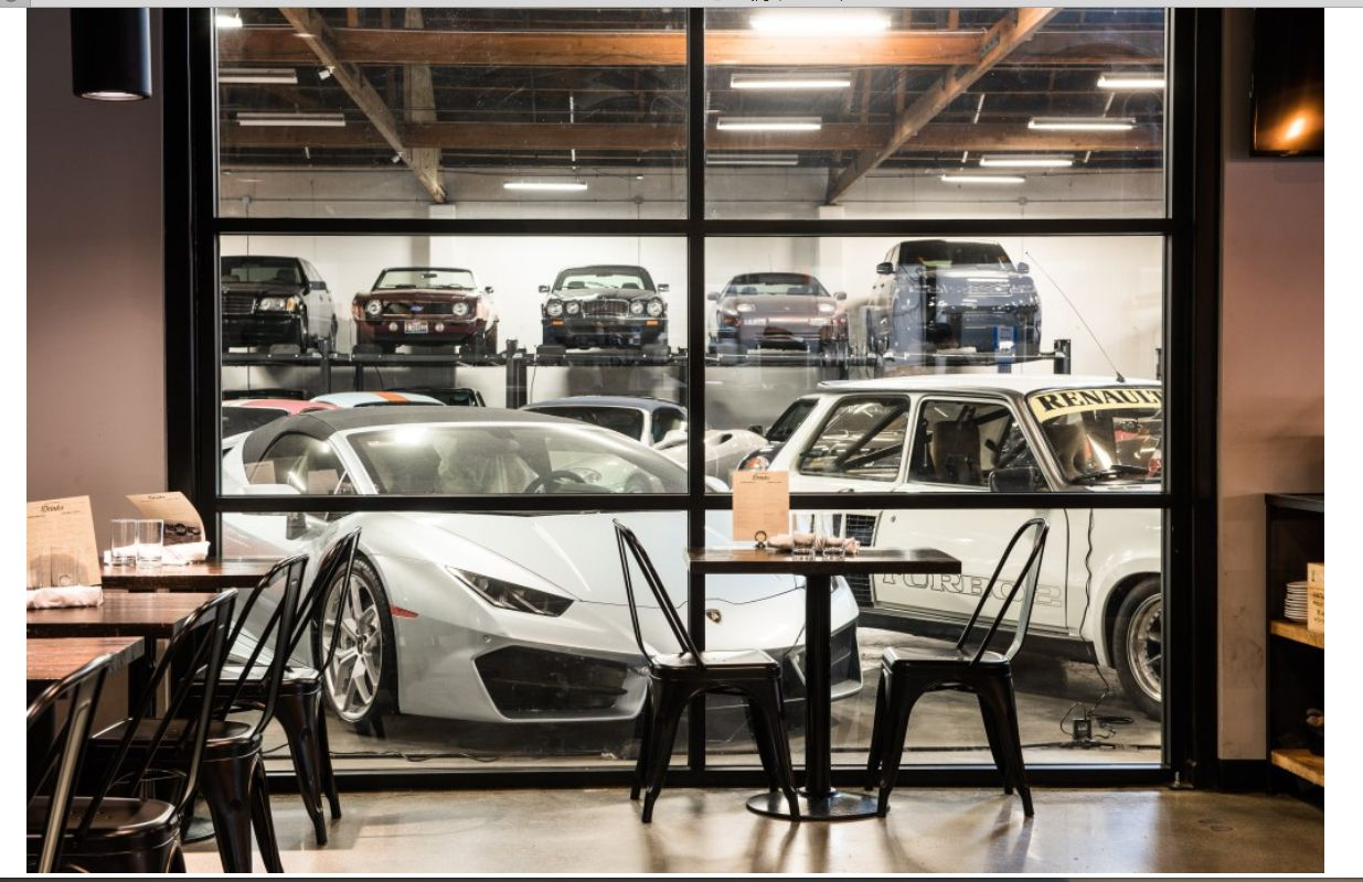 The Shop opened two years ago in Seattle with its concept of cars, food and drinks and socializing.